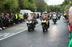 The Remains of Aidan Lynam arrive in Lucan this Morning