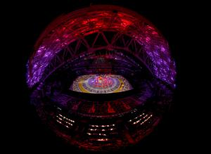 A general view of the stadium is seen during the opening ceremony of the 2014 Sochi Winter Olympics