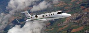 FLYING HIGH: The Learjet 45 operates seven days a week