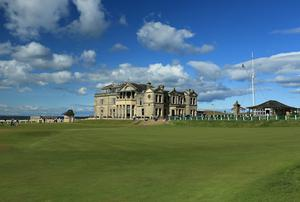 A view of the clubhouse of the Royal and Ancient Golf Club of St Andrews. David Cannon/Getty Images