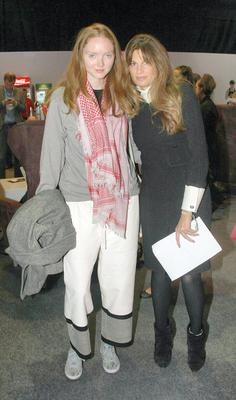Lily Cole with Jemima Khan