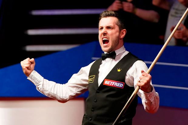 Mark Selby celebrates after winning the the Betfred World Snooker Championships 2021 at The Crucible, Sheffield. Zac Goodwin/PA Wire