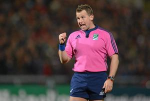 Referee Nigel Owens will be the man in the middle at Thomond