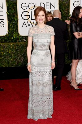 BEVERLY HILLS, CA - JANUARY 11:  Actress Ellie Kemper attends the 72nd Annual Golden Globe Awards at The Beverly Hilton Hotel on January 11, 2015 in Beverly Hills, California.  (Photo by Jason Merritt/Getty Images)