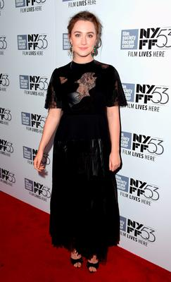 "Saoirse Ronan attends the 53rd New York Film Festival premiere of ""Brooklyn"" at Alice Tully Hall, Lincoln Center on October 7, 2015 in New York City.  (Photo by Nicholas Hunt/Getty Images)"