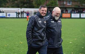 Dean Brennan with kit manager Tony Waugh