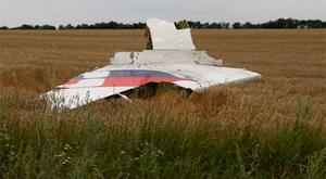 Wreckage from Malaysia flight MH17 strewn across the crash site