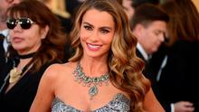 Actress Sofia Vergara arrives on the red carpet for the 20th annual Screen Actors Guild Awards