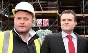 Family: Hugh (left)and Greg Kavanagh settled their court dispute on confidential terms in May. Photo: Gerry Mooney