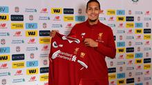 Liverpool's new signing Virgil van Dijk pictured at Melwood Training Ground