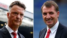 Louis van Gaal and Brendan Rodgers have contrasting approaches to management.