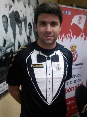 Cultural y Deportiva Leonesa Just like that novelty shirt you brought on holiday years ago and thought was hilarious but soon realised it wasn't, only this is an actually football kit.