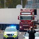 Tragedy: The container lorry in which 39 people were found dead in Essex. Photo: Aaron Chown/PA Wire