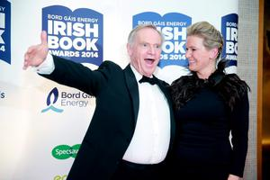 Jeffrey Archer with Rachel Allen at the Bord Gais Energy Irish Book Awards at the Double Tree by Hilton Hotel in Dublin. Picture:Arthur Carron