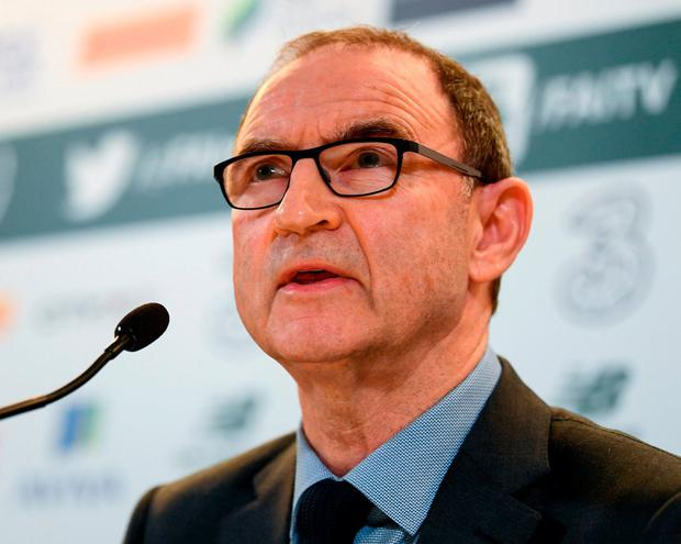 Manager Martin O'Neill finalises his Ireland squad. Photo: Sportsfile