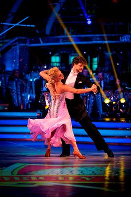 Aliona Vilani and Jay McGuiness during the final of Strictly Come Dancing. Guy Levy/BBC/PA Wire