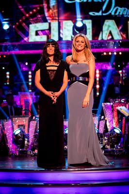 Claudia Winkleman (left) and Tess Daly during the final of Strictly Come Dancing. Guy Levy/BBC/PA Wire
