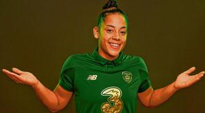 Rianna Jarrett is hoping to take her good form at club level onto the international scene when Ireland take on Greece tonight. Photo: Seb Daly/Sportsfile