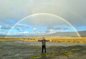 """""""On my trip to Kerry in spring, I saw my first ever full rainbow! It gave me the choice of chasing the pot of gold at either end of the rainbow,"""" says Harshil Gajjar. """"Only in Ireland!"""""""