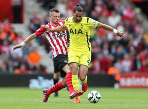 "Football - Southampton v Tottenham Hotspur - Barclays Premier League - St Mary's Stadium - 25/4/15 Tottenham's Nacer Chadli in action with Southampton's Morgan Schneiderlin Action Images via Reuters / Matthew Childs Livepic EDITORIAL USE ONLY. No use with unauthorized audio, video, data, fixture lists, club/league logos or ""live"" services. Online in-match use limited to 45 images, no video emulation. No use in betting, games or single club/league/player publications.  Please contact your account representative for further details."