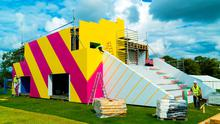 The 3Penthouse under construction at Electric Picnic on the eve of the festival
