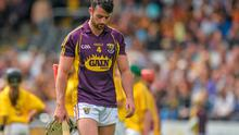 21 June 2015; Eoin Moore, Wexford, makes his way off the field at half-time. Leinster GAA Hurling Senior Championship, Semi-Final, Kilkenny v Wexford, Nowlan Park, Kilkenny. Picture credit: Piaras Ó Mídheach / SPORTSFILE