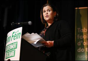 Sinn Fein President Mary Lou McDonald. Photo: Steve               Humphreys