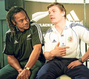 Captain Brian O'Driscoll and his All Blacks counterpart Tana Umaga during the Lions tour of 2005. Their on-field interactions during that series were short and sour. Photo: Getty Images