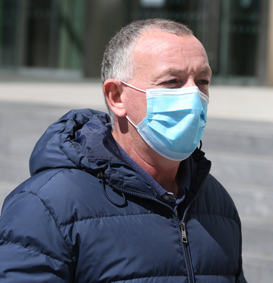 Mark Casserly outside court after facing charges of perverting the course of justice.