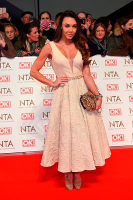 Michelle Heaton attends the National Television Awards on January 25, 2017 in London, United Kingdom.  (Photo by Anthony Harvey/Getty Images)