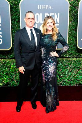 Actors Tom Hanks and Rita Wilson attend The 75th Annual Golden Globe Awards at The Beverly Hilton Hotel on January 7, 2018 in Beverly Hills, California.  (Photo by Frazer Harrison/Getty Images)