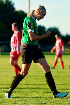 Stephanie Roche celebrates her goal for Peamount United. Photo: Sportsfile