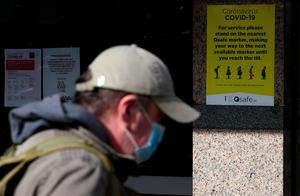 Posters with guidelines on social distancing at a SuperValu store in Dublin as an infectious disease expert has said Ireland will experience a surge in the number of Covid-19 cases before social distancing measures start to make an impact. Photo: Brian Lawless/PA Wire