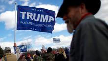 Supporters of President Donald Trump gather for a 'People 4 Trump' rally at Neshaminy State Park in Bensalem, Pennsylvania. Photo: REUTERS/Mark Makela