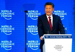 Chinese President Xi Jinping attends the World Economic Forum (WEF) annual meeting in Davos, Switzerland
