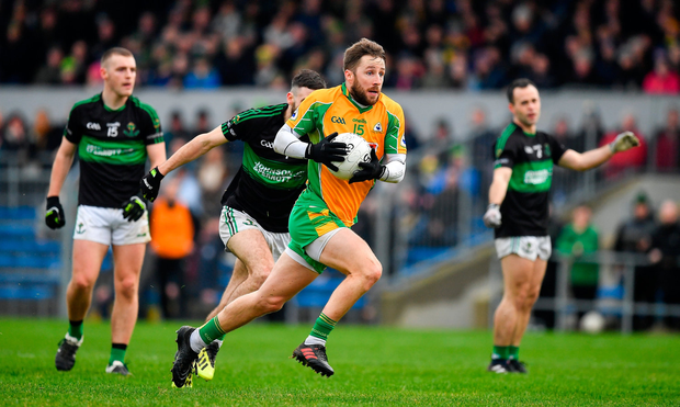 Micheál Lundy found the net for Corofin against Nemo Rangers after just 33 seconds. Photo by Brendan Moran/Sportsfile
