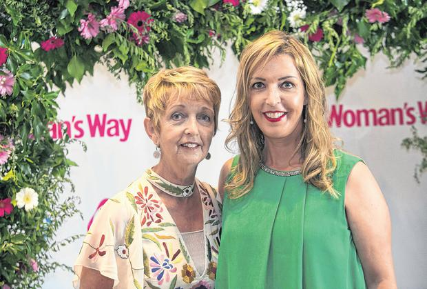 Gaby Kelly and her daughter Vicky Phelan, who received a Gamechanger Ambassador Award during the Woman's Way & Beko Mum of the Year Awards at The Gibson Hotel, Dublin. Photo: Gareth Chaney Collins