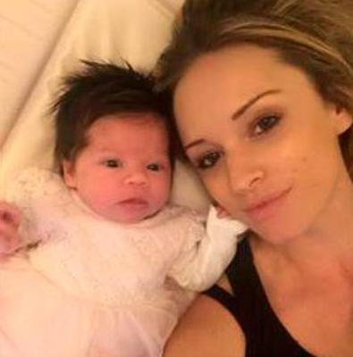 Becky and baby Gracie