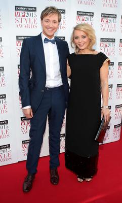 Norman Pratt and Roisin Tierney-Crowe on the Red Carpet at The Peter Mark VIP Style Awards 2015 at The Marker Hotel,Dublin. Pictures Brian McEvoy