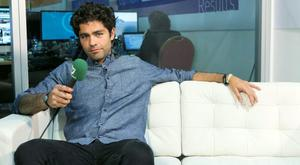 Entourage's Adrian Grenier chatting with Caitlin Mc Bride  at the Web Summit  in the RDS