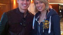 Stephanie Roche pictured with fellow FIFA Puskas Goal of the Year finalist James Rodriguez