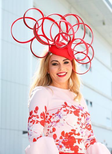 Karen Leonard at the opening evening of the Galway Races. Picture: Frank McGrath