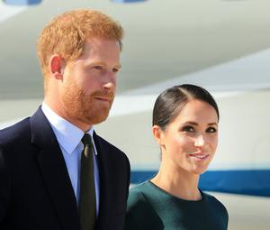 Prince Harry and Meghan. Photo: Gerry Mooney