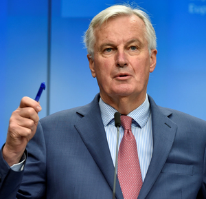 Sticking to his guns: Michel Barnier committed to keeping the Border open. Photo: REUTERS/Eric Vidal