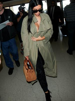 Kim Kardashian is seen at LAX. on June 22, 2015 in Los Angeles, California.  (Photo by GVK/Bauer-Griffin/GC Images)