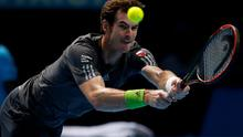 Andy Murray competes against Roger Federer during the Barclays ATP World Tour Finals