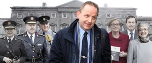 Some of the players in the controversy include, from left, former Garda Commissioner Noirin O'Sullivan, her predecessor Martin Callinan, Superintendent David Taylor, Sergeant Maurice McCabe, former Tanaiste Frances Fitzgerald, former justice minister Alan Shatter, Children and Youth Affairs Minister Katherine Zappone
