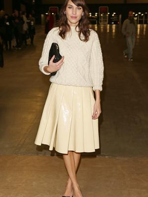 Alexa Chung wearing an Aran jumper in 2013