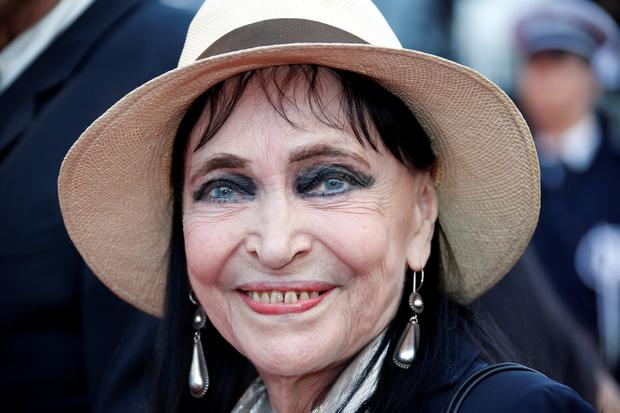 French film actress Anna Karina arrives on the red carpet at the Cannes Film Festival in Cannes, France, May 8, 2018. REUTERS/Jean-Paul Pelissier/File Photo