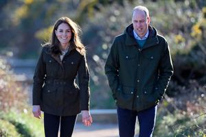 The Duke and Duchess of Cambridge during a visit to Howth Head near Dublin, as part of their three day visit to the Republic of Ireland. PA Photo: Brian Lawless/PA Wire